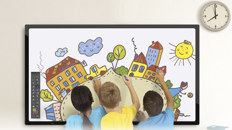How large format displays are changing the ways schools communicate
