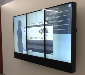 Large format displays in corporate communications