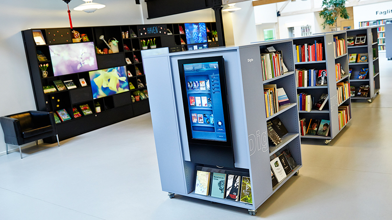 digital signage in libraries