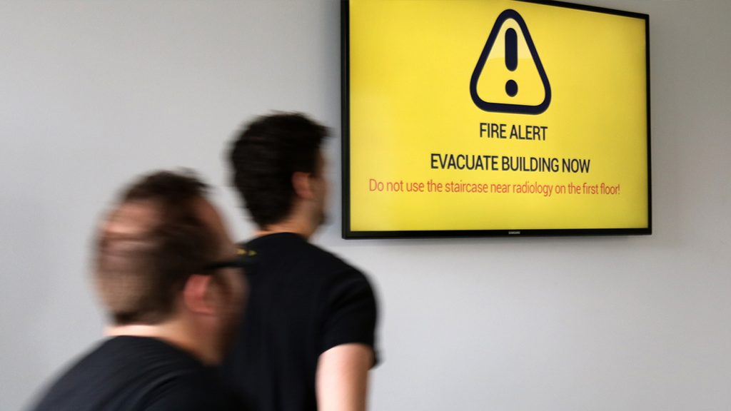 How digital signage is delivering emergency service information