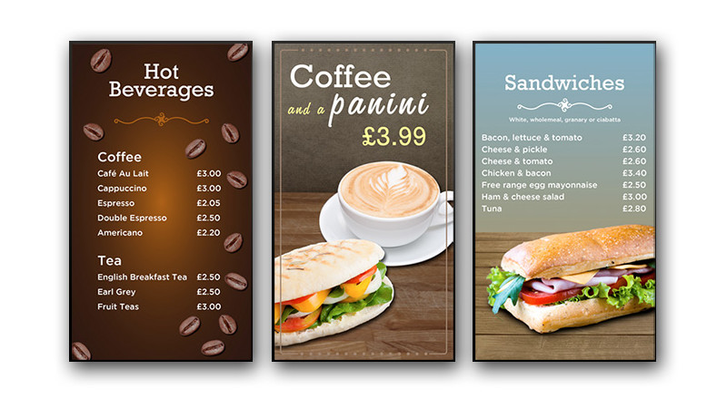 10 ways to wow customers with a digital signage menu board