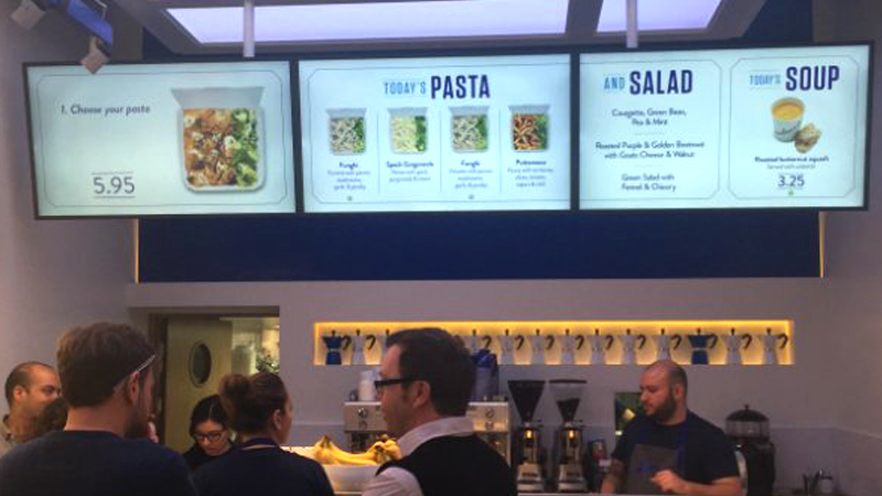 Create a digital signage menu board with video
