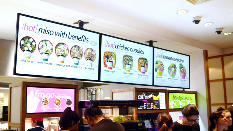 Digital signage menu board: Itsu image