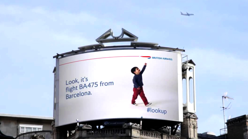 digital signage advertising - ba look up