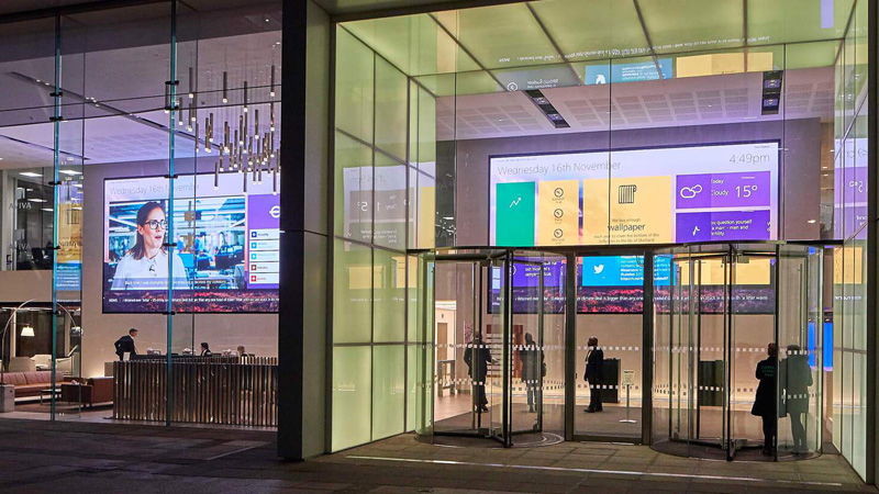 Designing for digital signage screens: the pro's guide Aviva main